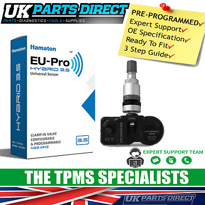Fiat Ducato Combi TPMS Tyre Pressure Sensor (14-19) - PRE-CODED - Ready to Fit