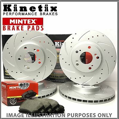 26m For Infiniti M37 3.7 11-18 Front Rear Drilled Grooved Brake Discs Pads