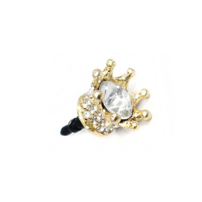 3.5mm Anti-dust Plug Crown Diamond Phone Plug for Audio Earphone Headphone Plug