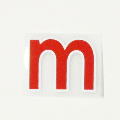 LETTER SMALL M - 17 / 20 RED PREMIER LEAGUE ADULT SIZE = 35mm