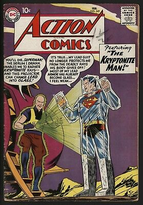 Action Comics #249 - Great Lex Luthor Cover! Glossy Cents Copy Nice Pages
