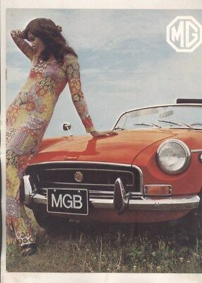 1971 MG US MGB Brochure wz6426