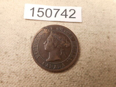 1893 Canada Large Cent Very Nice Raw Collector Grade Album Coin - # 150742