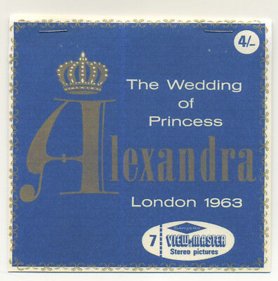 The Wedding of Princess Alexandra London England 1963 RARE View-Master Reel 1120