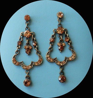 Vintage Style Chandelier Earrings Topaz Australia Crystals Perfect Gift E2246