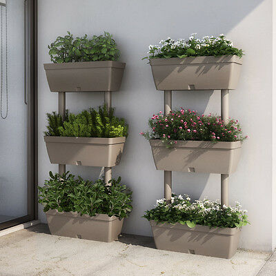 3 Tiered Outdoor Plastic Planter Plant Flower Stand