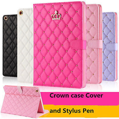 Luxury Crown Slim Smart Wake Leather Case Cover For Apple iPad 2 3 4 mini123