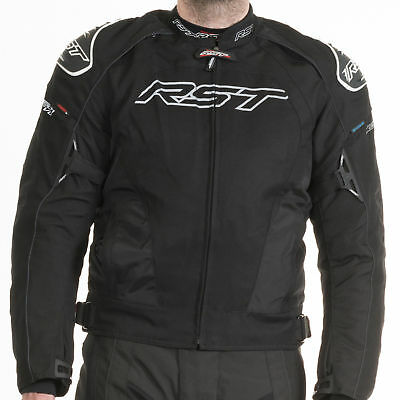 RST Tractech Evo II 1397 Armoured Textile Sports Motorcycle Jacket Black - SALE