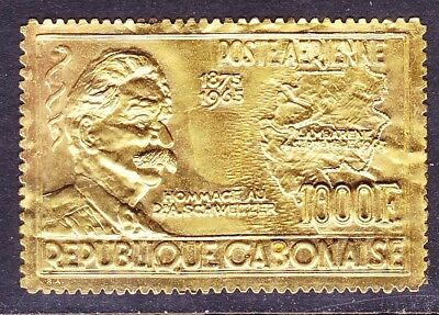 Gabon C39 MNH 1965 1000 Gold Dr. albert Schweitzer Issue Scv