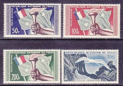 Togo C22-25 MNH 1957 Flag & Torch - Great White Egret Airmail Set of 4 Very Fine