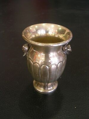 Vintage Spanish Solid Silver Vase With Snails. Hallmarked.925Mm.