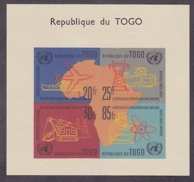Togo 410a MNH 1961 UN Economic Commission IMPER Souvenir Sheet Very Fine