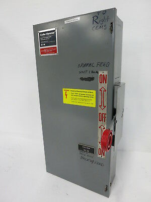 Cutler Hammer DT363UGK 100A 600V Double Throw Safety Switch 100 Amp Eaton