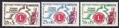 Cameroun B33-35 MNH 1962 Lions Club - Leprosy Relief - Physician Helping Leper