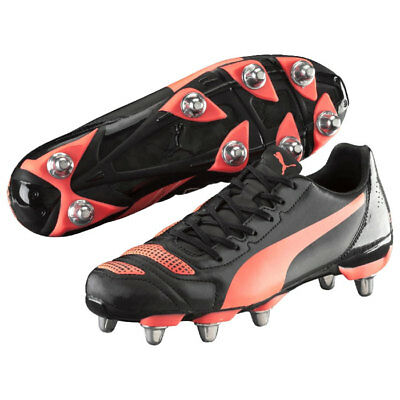 Puma evoPOWER 4.2 H8 Rugby Boots Black / Red - Sizes UK 7 - 13