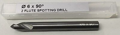 1 X 6Mm Solid Carbide Nc Spot / Spotting Drill 90 Degree