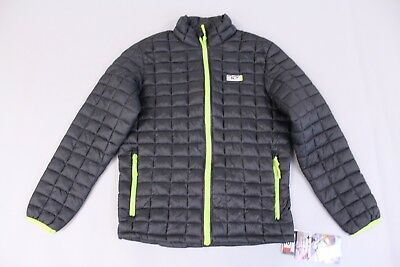 32 Degrees Boy's Full Zip Packable Down Puffer Jacket CB4 Black Medium NWT