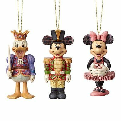 Disney Traditions Mickey Minnie Mouse Donald Duck Nutcracker Hanging Ornament