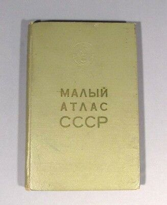Book Atlas USSR Soviet Union Russian Map 1973 CCCP Russia Old Vintage