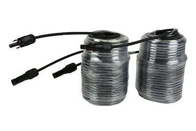 1 Pair TEMCo 100ft MC4 Solar Panel Extension Connector 12 AWG PV Cable Wire
