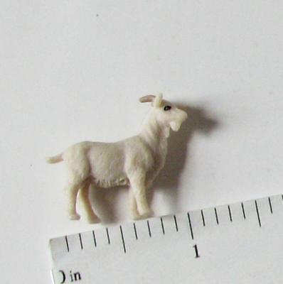 Doll House Shoppe 3 Toy White Goat Figures MUL6019 Micro-Mini Miniature