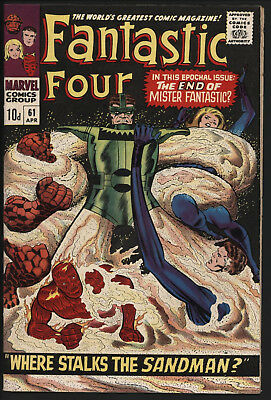 Fantastic Four 61 Marvel Comics VFN Tight structure Off white-white pages