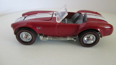loose 2006 Hot Wheels Ultra Hots SHELBY COBRA 427 red with white stripes
