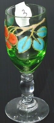 Verre A Pied Decor Fruits Emailles Email Verre A Liqueur G.sand Collection N°3