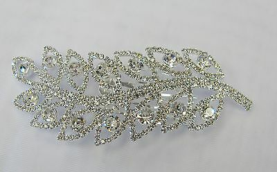 Pretty Silver Clear Rhinestone Crystal Hair Comb  #  3004 Bridal Prom Wedding