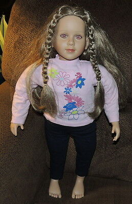 My TWINN Doll ~ Brown Hair  Braids~Pink/Red Eyes~Clothed~2011