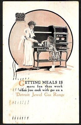 Detroit Jewel Gas Range (Advertising) Getting Meals Is More Fun Than Work When Y