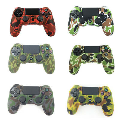Camouflage silicone gel rubber soft skin grip cover case for ps4 controller TEUS