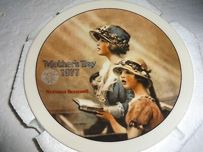 Vintage Knowles Norman Rockwell Mothers Day Faith Collector Plate 1977