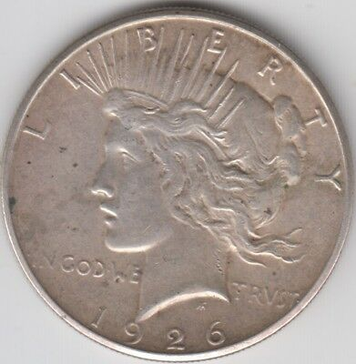 Coin 1926S USA Liberty silver dollar in very fine condition