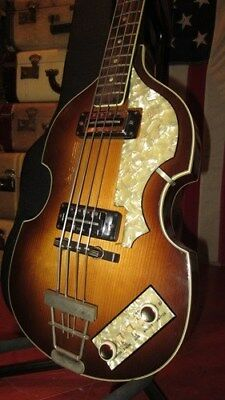 Vintage Original Circa 1967 Hofner 500/1 Beatle Electric Bass Guitar W/ OHSC
