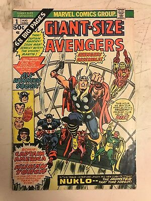 Marvel Comics Giant-size Avengers #1 Bronze Age 1974 First Appearance Nukio