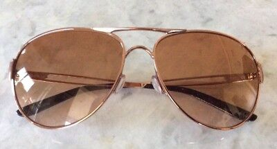 Oakley Women's Caveat Aviator Sunglasses Rose Gold Gradient Lenses W Case