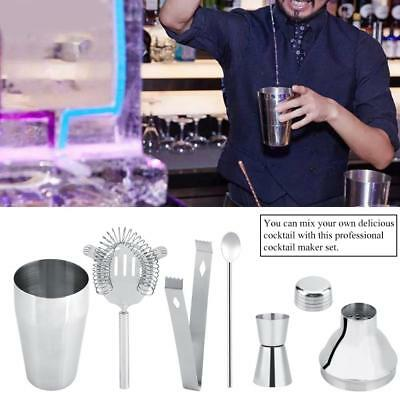 Cocktail Shaker Set Maker Mixer Martini Spirits Bar Strainer Bartender 500/750ml