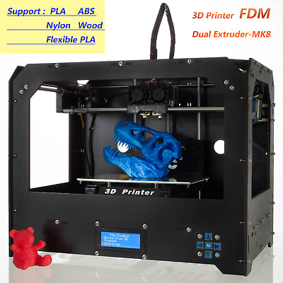 3D printer FDM Dual Extruder printer MK8 Desktop High precision Patented nozzle