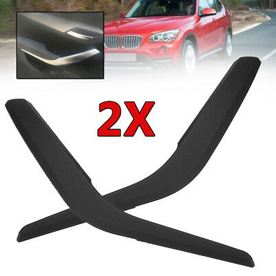 Pair Side Inner Door Panel Handle Pull Trim Cover Black For BMW X1 E84 2010-16