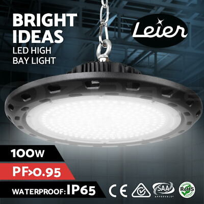 Leier LED High Bay Lamp Lights Industrial 100W Shed Warehouse Gym Light Factory