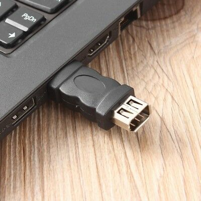 Mini Portable Firewire IEEE 1394 6 Pin Female to USB Type A Male Adaptor Adapter