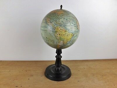 Antique French Terrestrial Globe J.forest Paris Late 1930 Early 40's Mappemonde