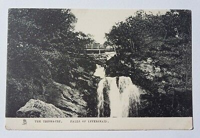 The Trossachs Falls Of Inversnaid Vintage Postcard