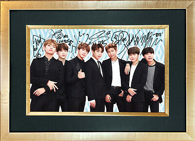 BTS #1 Boy Band Quality Autograph Mounted Signed Photo RePrint Poster 759