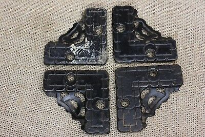 4 Screen Door Brackets old vintage Patent DATED 1886Victorian flat supports
