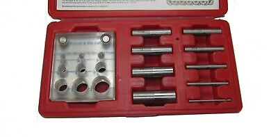 "Rdgtools 9Pc Punch And Die Set 1/8"" - 3/4"" Hole Punch For Metal"