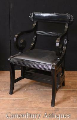 Regency Lacquer Metamorphic Chair Library Steps