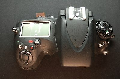 Original Nikon D800 Top Cover Assembly Replacement Part With Flash and LCD A0033