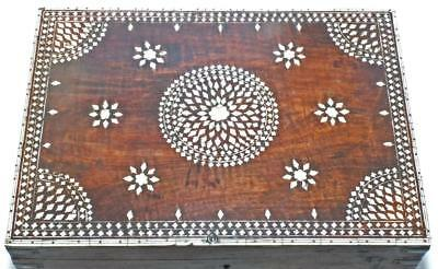 Excellent Large 18Th Early 19Th C Hoshiarpur Anglo Indian Inlaid Box